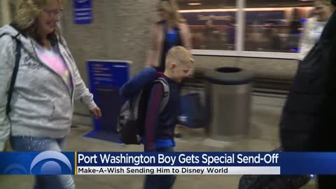 Make-A-Wish gives Port Washington boy special send-off to Disney...